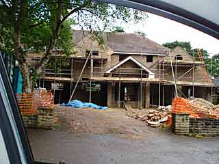 House extension during building work